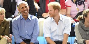 Barack Obama and Prince Harry at the 2017 Invictus Games