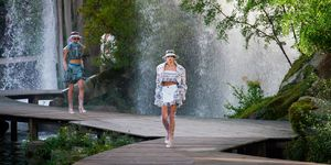 Kaia Gerber on the Chanel spring/summer 2018 catwalk