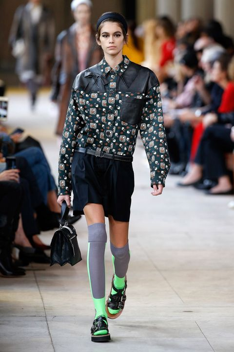 Kaia Gerber on the Miu Miu catwalk