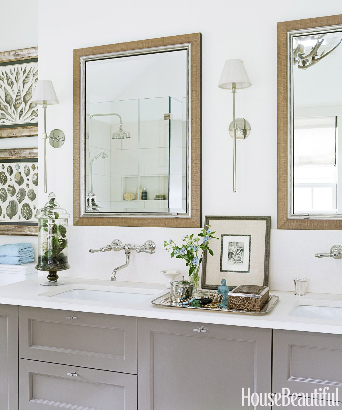Belgian Style Bathroom - Calm Bathroom Decorating Ideas