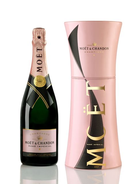 Moet & Chandon Imperial Rose Unfurl the Tie Box_with Bottle