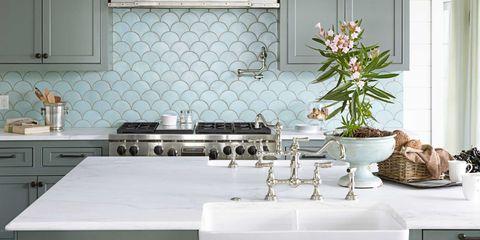 Room, White, Light fixture, Interior design, Plumbing fixture, Interior design, Kitchen, Tap, Cabinetry, Grey,