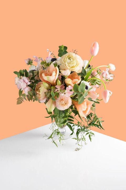 <p>Sensual yet refined, this arrangement is composed of blooms and foliage culled from the four corners of the world. Because, well,&nbsp;nothing less would do.</p> <p><em>Materials: Amaryllis, French Tulips, Sweet Pea, Tetra Anemone, Hautau Ranunculus, Italian Eucalyptus, Jasmine</em></p> <p><em>&nbsp;Retails at $300.</em></p>