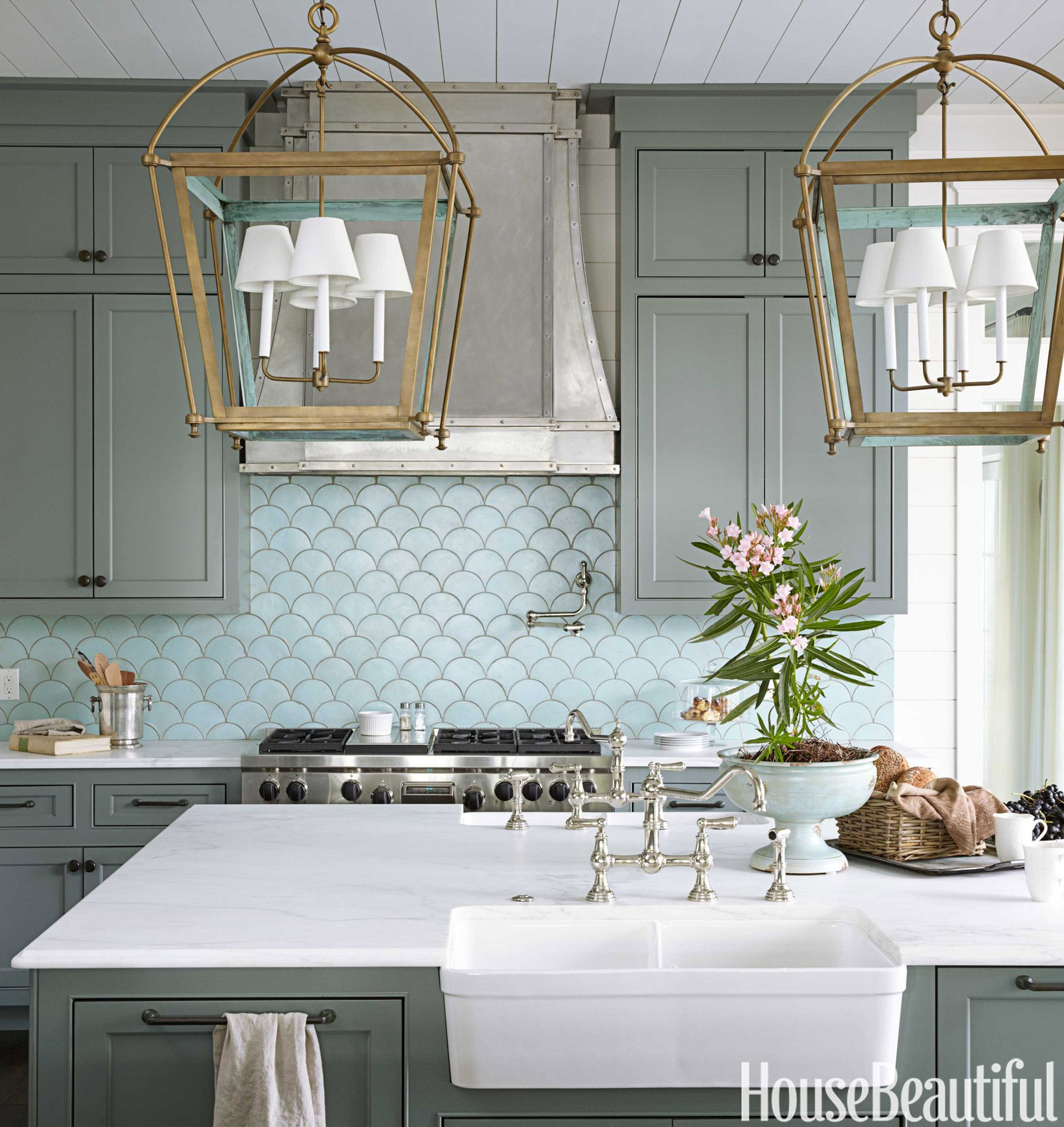 Ocean Inspired Kitchen - Urban Grace Interiors Kitchen