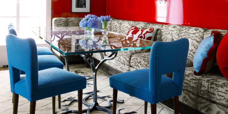apartment colors. Luscious color and gleaming surfaces  Colorful Small Apartment Space Color Ideas