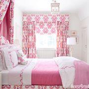 Room, Interior design, Bed, Green, Floor, Property, Textile, Bedding, Bedroom, Red,