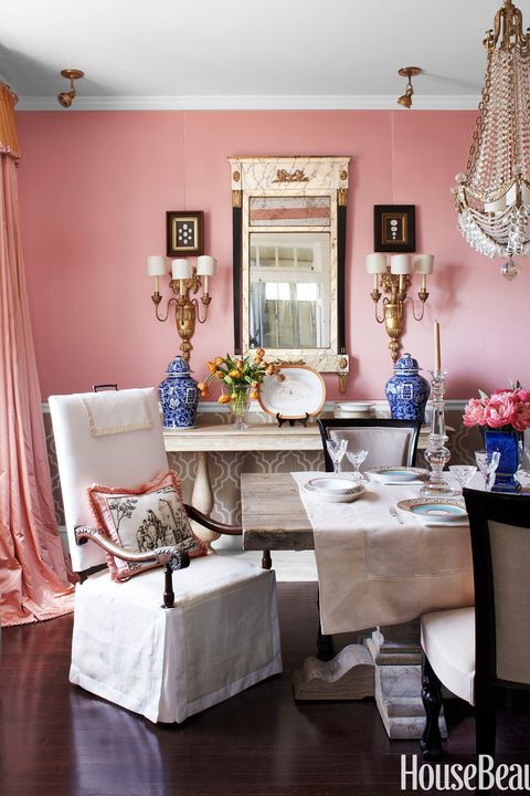 Bjorn Wallander Pink Dining Room