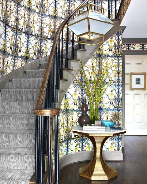 The Best Entryway Ideas of 2018 - Beautiful Foyer Designs ... Entry House Plans With Grand Staircases on houses with dual staircases, indoor staircases, house plans with 2 staircases, plans for staircases, types of staircases, mansion double grand staircases, luxury staircases, contemporary staircases, victorian staircases, windows for staircases, beautiful staircases, house plans of 1930 cottages, interior staircases, rustic grand staircases, house plans with grand entrances, open foyers with staircases, houses with double staircases, traditional staircases, old house staircases, hotels with grand staircases,