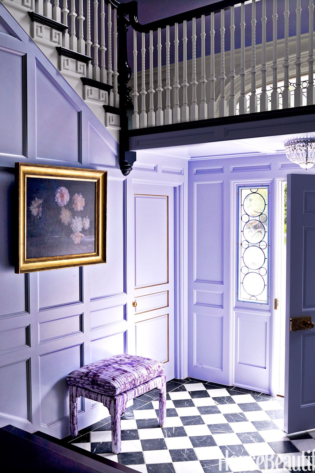 purple lavender entryway