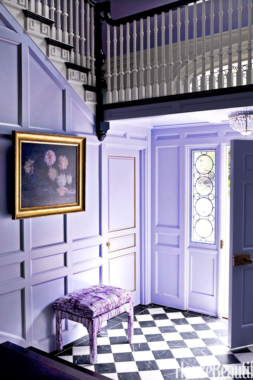 purple lavender entryway