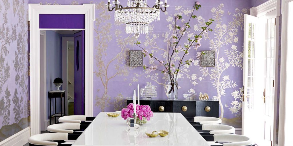 Beautiful Purple Dining Room