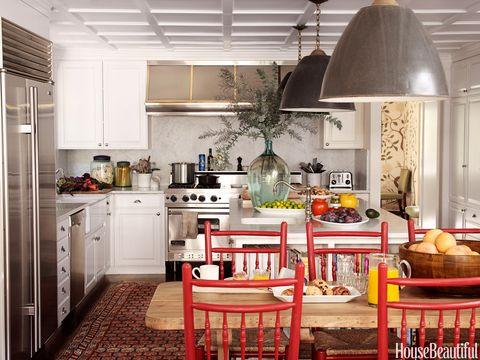 Interior design, Room, Home, Floor, Light fixture, Ceiling, Interior design, Kitchen, Basket, Kitchen appliance,