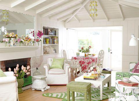 Room, Green, Interior design, Home, Living room, White, Ceiling, Furniture, Interior design, House,