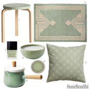 Green, Teal, Throw pillow, Pattern, Pillow, Home accessories, Serveware, Rectangle, Interior design, Cushion,
