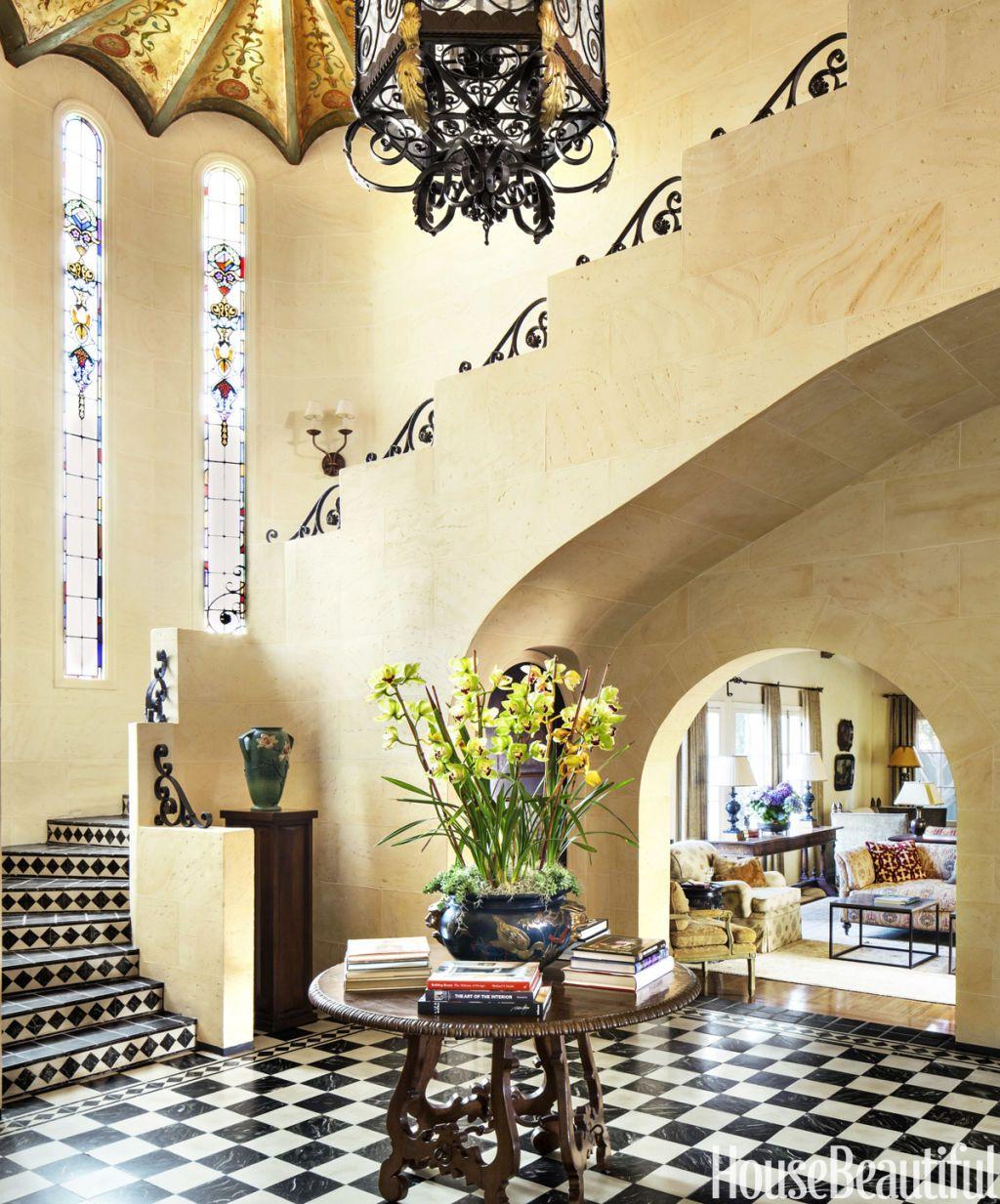 1920s spanish colonial revival houseimage lisa romerein entry interior designer