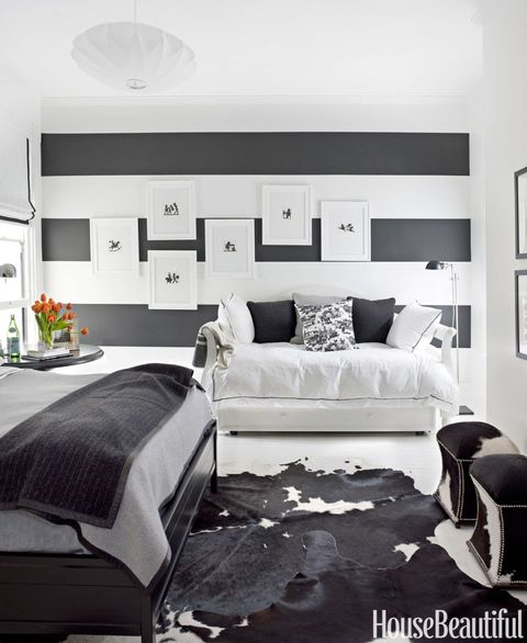 Black and White Designer Rooms - Black and White Decorating ...