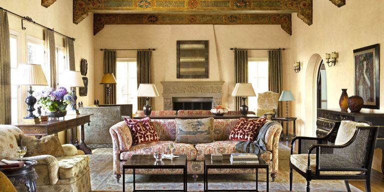 1920s spanish colonial revival house for 1920s living room ideas