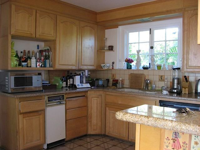 cleaning kitchen cabinets before and after 70s kitchen makeover 2234
