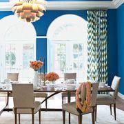 Blue, Interior design, Room, Furniture, Floor, Table, Ceiling, Chair, Interior design, Home,