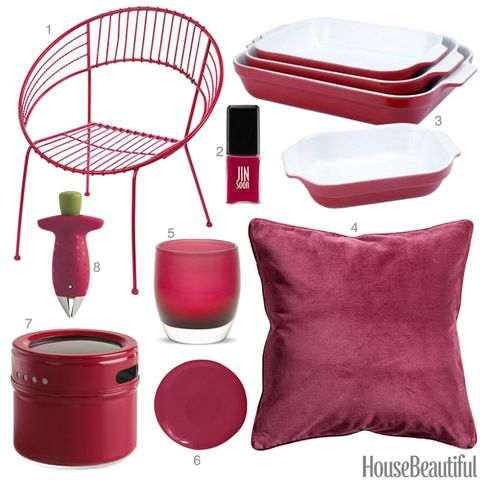 Raspberry Red Home Decor