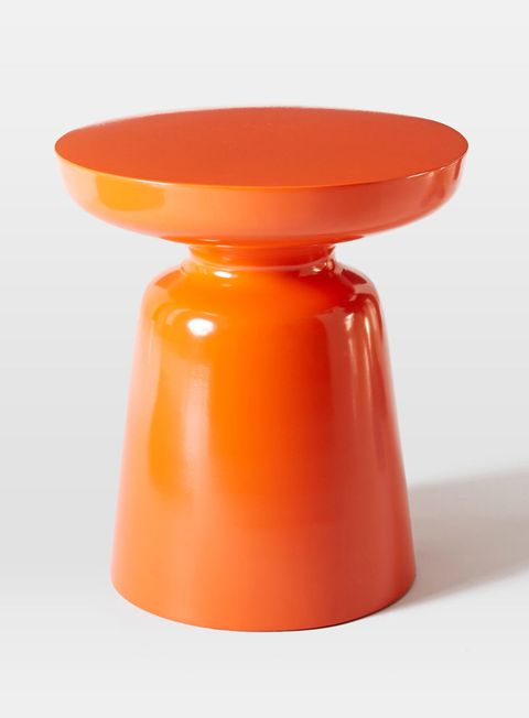 "Great for a bedroom or living room, this sleek, tiny cast aluminum table is the perfect accent piece. It can also be used outdoors, so it's perfect for patio season. Martini Side Table in Persimmon, $149. <a href=""http://www.westelm.com/products/martini-side-table-persimmon-h1069/?pkey=e%7Corange%7C249%7Cbest%7C0%7Cviewall%7C24%7C%7C12&amp;cm_src=PRODUCTSEARCH