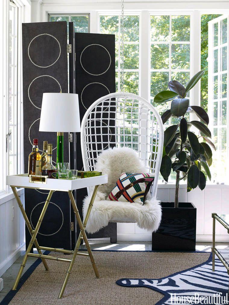 House Beautiful & 12 Pretty Sunroom Ideas - Chic Designs \u0026 Decor for Screened In Porches