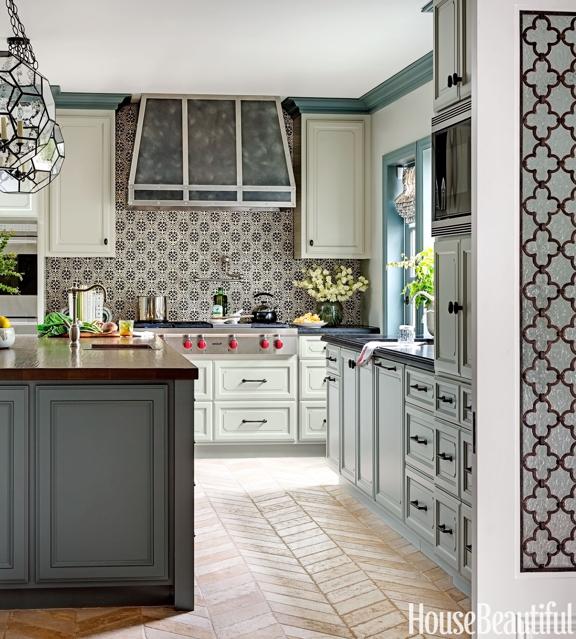 Lovely Tile Kitchens #1 - House Beautiful