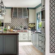 Room, Floor, Green, Interior design, Property, Flooring, Home, White, Drawer, Countertop,