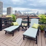 Wood, Hardwood, Tower block, Furniture, Outdoor furniture, Condominium, Real estate, Building, Apartment, Skyscraper,
