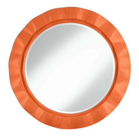 "An accent mirror will make a statement in any room. Nectarine 32"" Round Brezza Wall Mirror, $200. <a href=""http://www.lampsplus.com/products/nectarine-32-inch-round-brezza-wall-mirror__3w534-y5341.html"" target=""_blank"">lampsplus.com</a>"