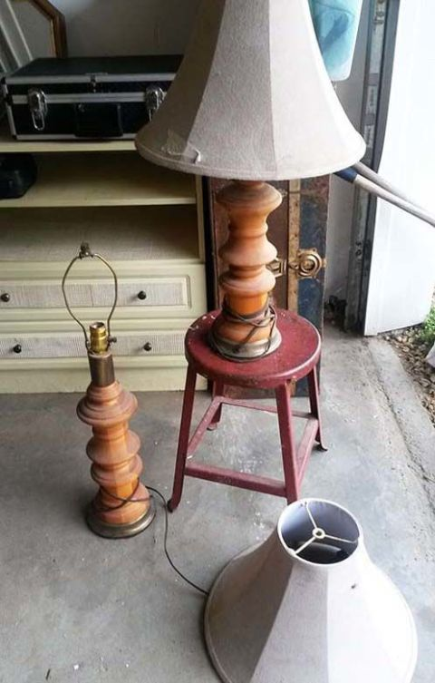 Before & After: Dusty Old Lamps Are Transformed Into a DIY Pendant Light