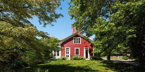Plant, Window, Branch, Property, House, Landscape, Land lot, Building, Real estate, Home,