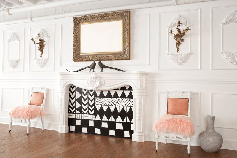 Clever ways to decorate a non-working fireplace.