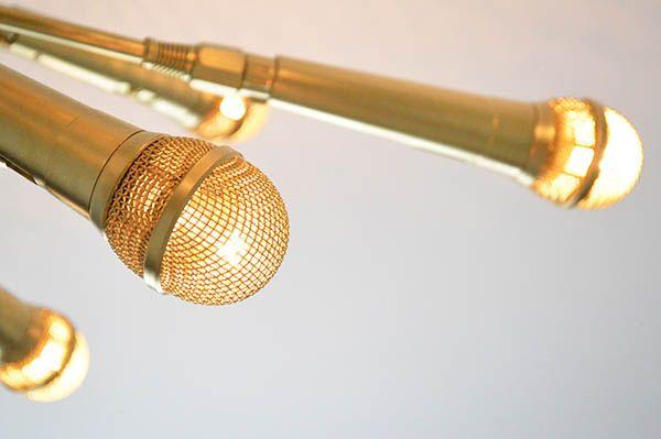 homemade lighting fixtures. diy sputnik chandelier made from microphones microphone homemade lighting fixtures