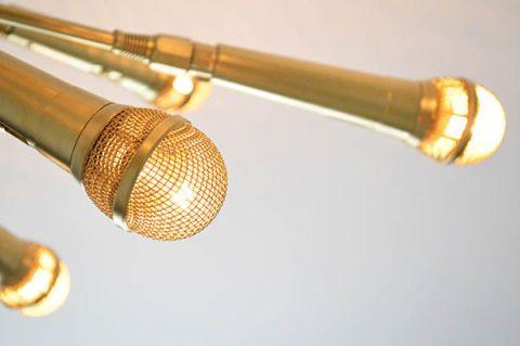 Gold Microphone Chandlier