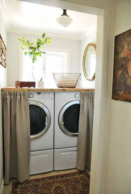 Hidden Laundry Rooms - Bathroom laundry room design ideas
