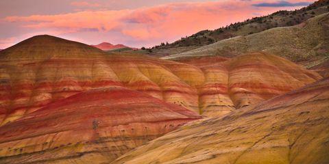 Mountainous landforms, Cloud, Highland, Landscape, Hill, Mountain, Dusk, Terrain, Geology, Formation,