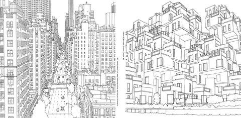 Neighbourhood, White, Line, City, Monochrome, Black-and-white, Pattern, Artwork, Black, Art,