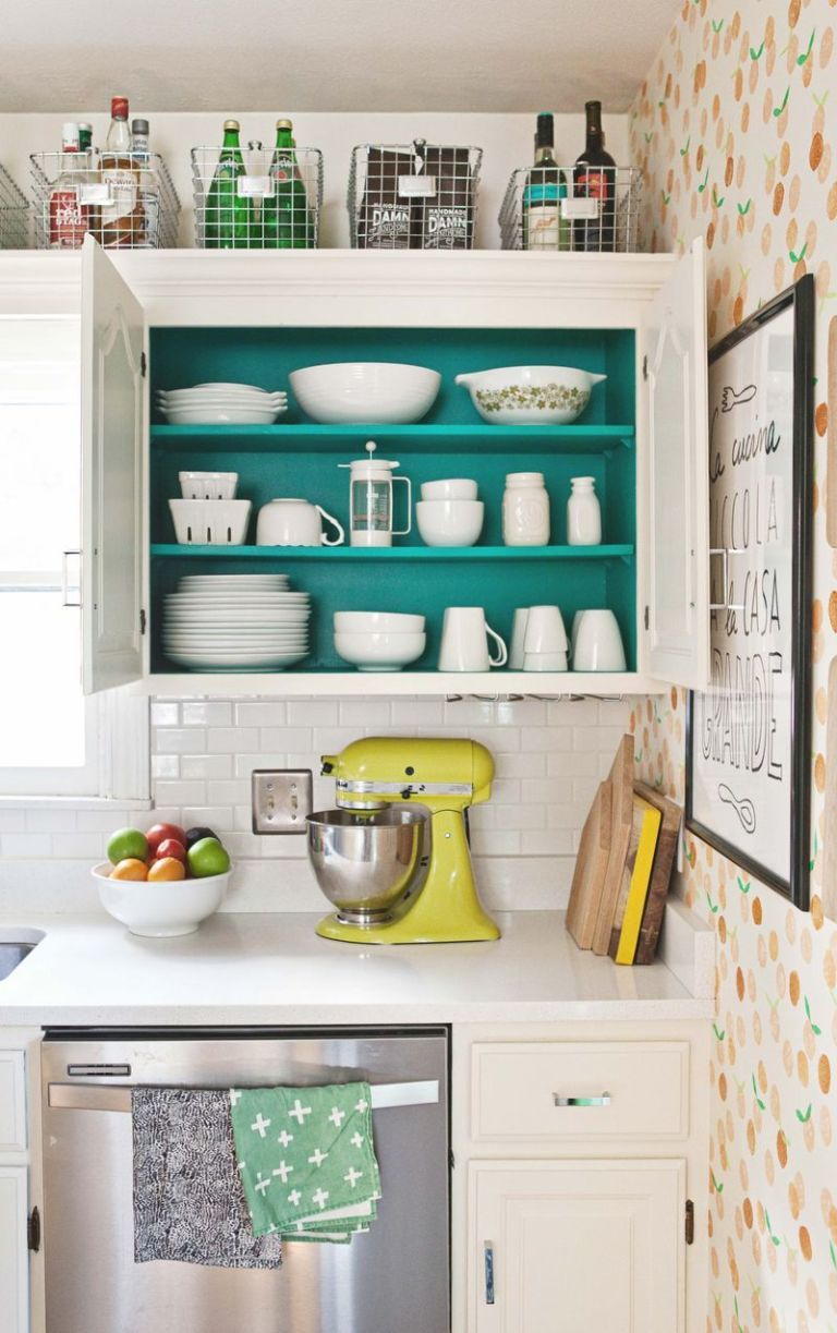 14 Genius Ideas For The Awkward Space Above Your Kitchen Cabinets