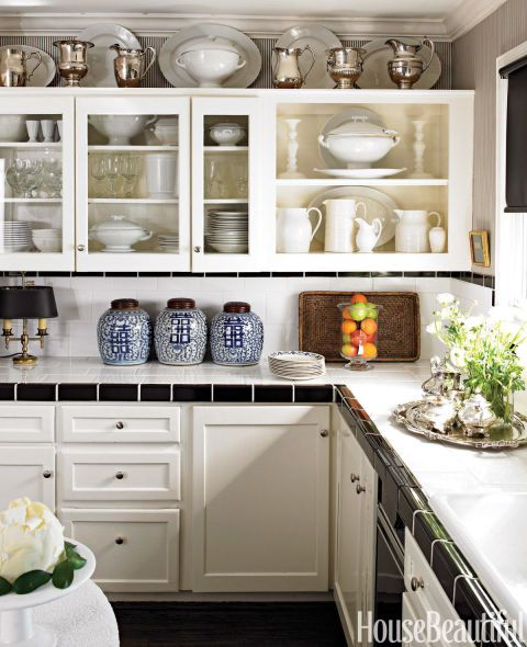 Design Ideas for the Space Above Kitchen Cabinets - Decorating Above Kitchen Cabinets & Design Ideas for the Space Above Kitchen Cabinets - Decorating ... kurilladesign.com