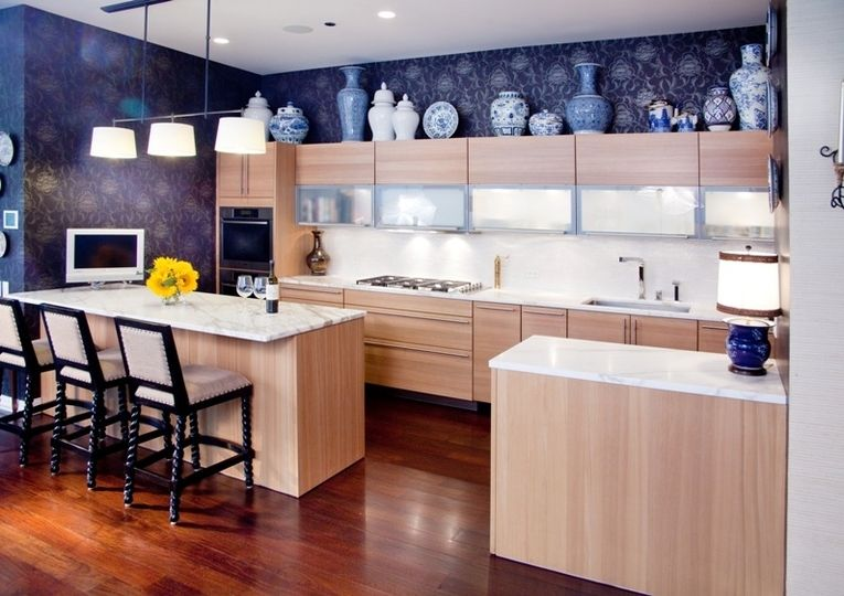 Decorating Tops Of Kitchen Cabinets design ideas for the space above kitchen cabinets - decorating