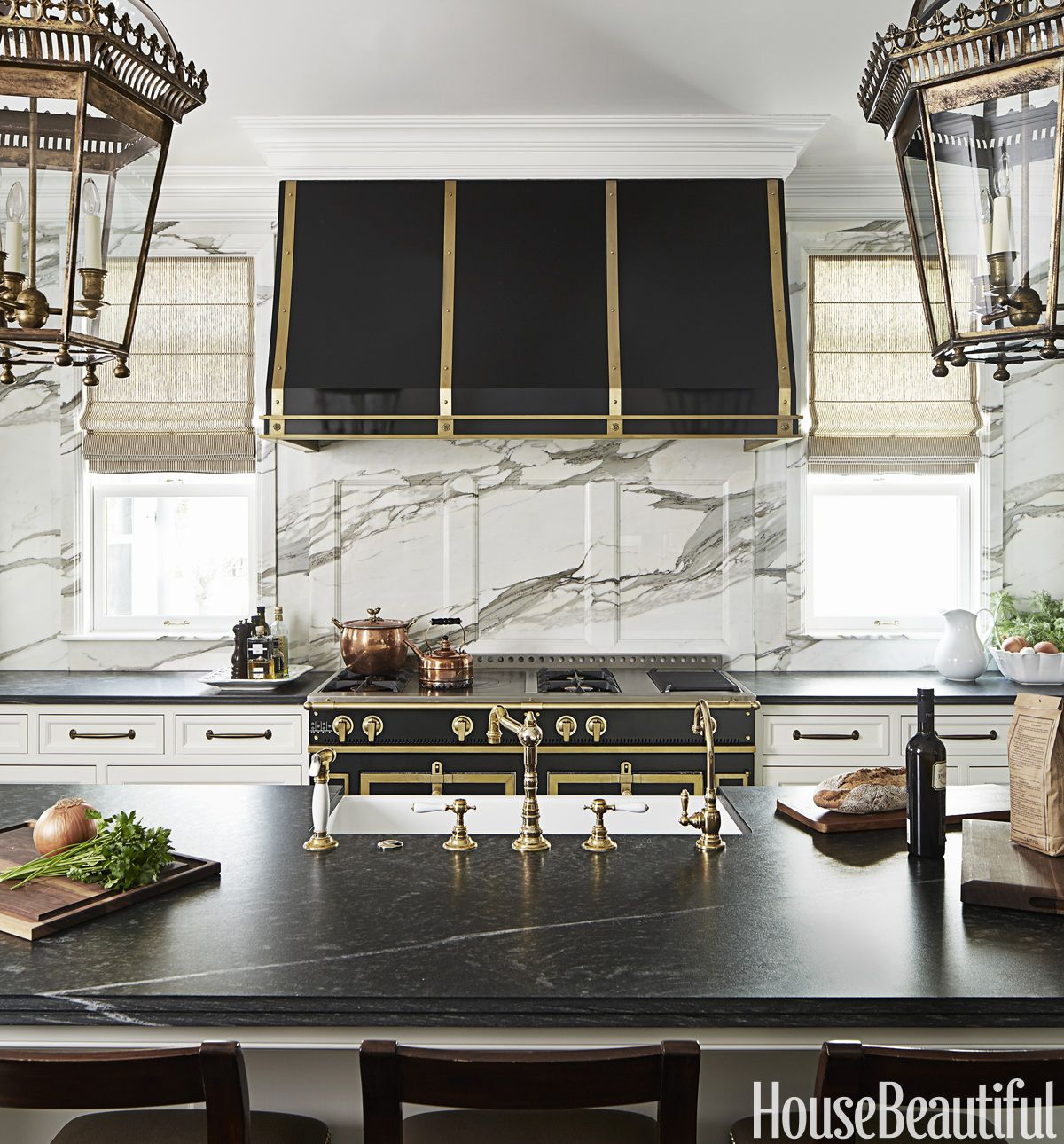 Black And White Kitchen Design Luxe Kitchen