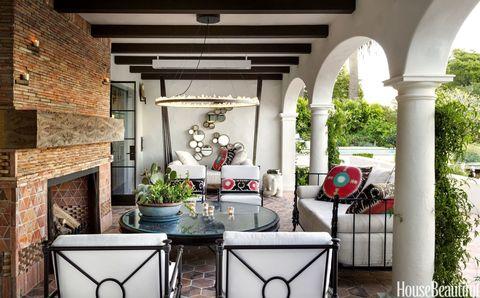 Property, Interior design, Room, Ceiling, Real estate, Brick, Flowerpot, Interior design, Houseplant, Shade,