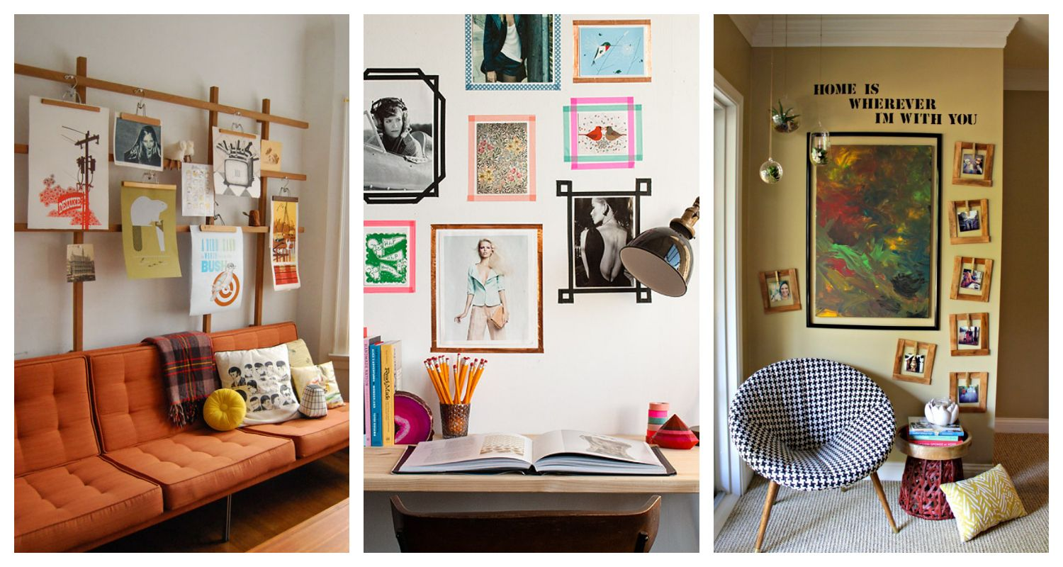 Wall Art Hanging Alternative Framing Ideas  How To Hang Pictures Without A Frame