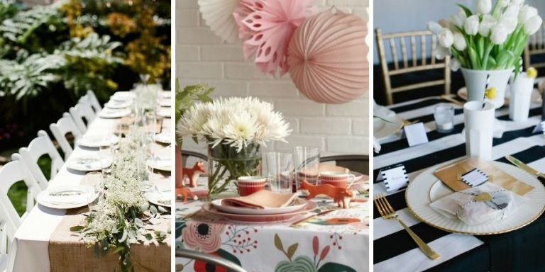 set the scene for an elegant celebration - Baby Shower Tablescapes Ideas