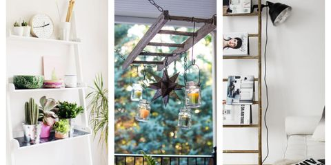 11 Decorative Uses for an Old Ladder