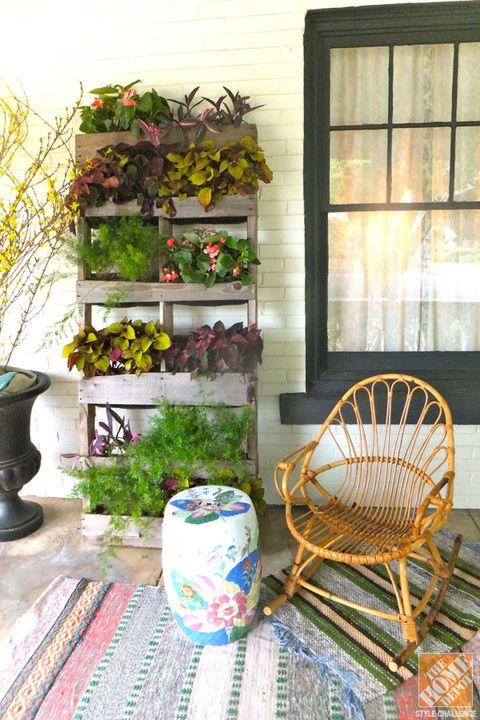 Flowerpot, Porcelain, Interior design, Wicker, Ceramic, Vase, Pottery, Windsor chair, Houseplant, Artifact,