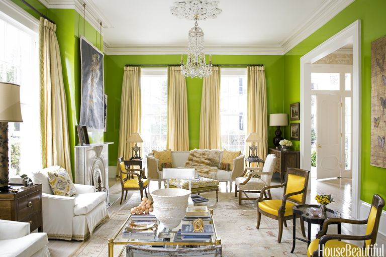 charming light green living room wall color | 9 Best Green Paint Colors - Shades of Green Paint