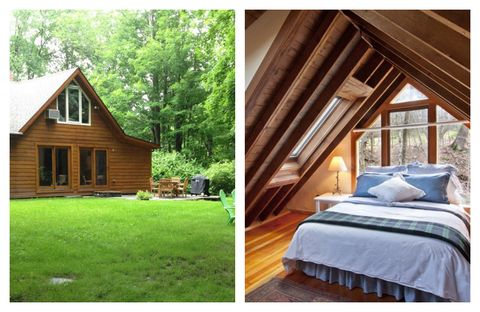"""<a target=""""_blank"""" href=""""http://www.homeaway.com/vacation-rental/p950862"""">Brook Cottage</a> offers privacy and seclusion only two hours north of New York City. Located in the Catskills area of the Hudson River Valley, this artist's cottage features cathedral ceilings, skylights, and the babbling Tannery Brook, which runs through the property.<a target=""""_blank"""" href=""""http://www.homeaway.com/vacation-rental/p950862"""">See more on HomeAway</a> »"""