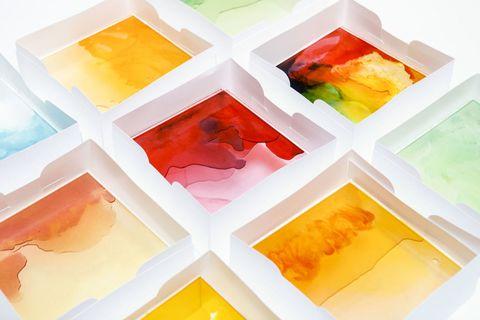 Colorfulness, Yellow, Orange, Amber, Pattern, Paint, Art, Teal, Art paint, Aqua,